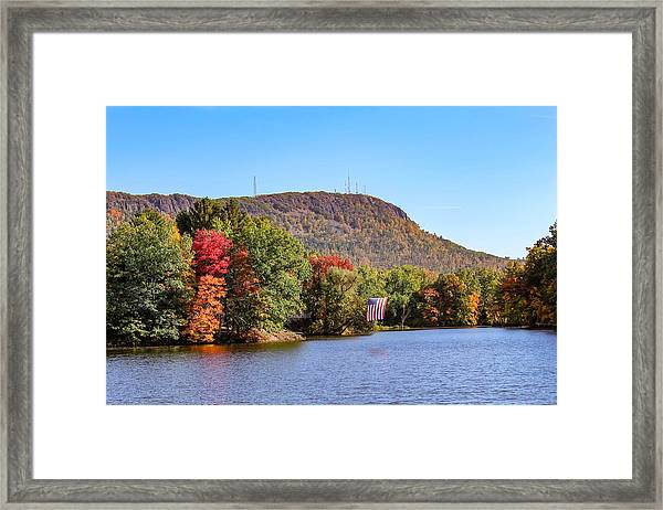 Nashawannuck Pond Fall Colors Framed Print