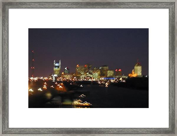 Nashville At Sixty Five Mph Framed Print