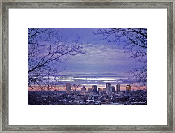 Nashville From The Distance - 2 Framed Print by Randy Muir