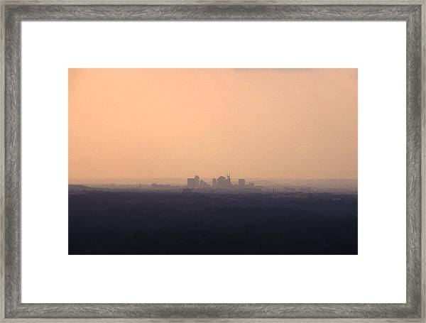 Nashville From The Distance Framed Print by Randy Muir
