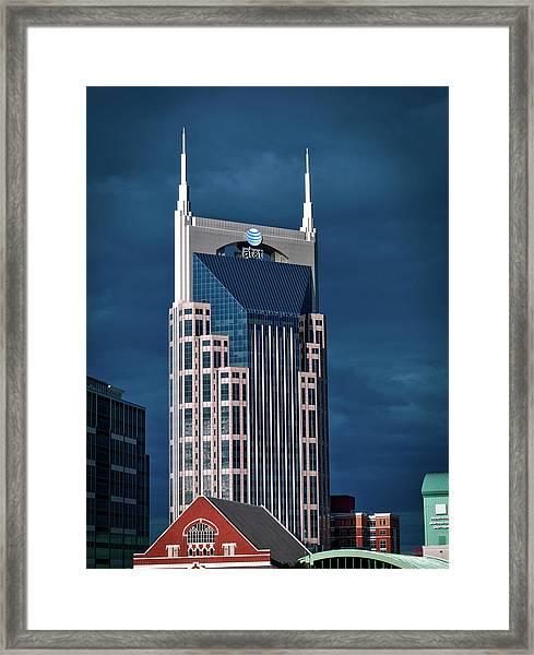 Nashville Landmarks Framed Print