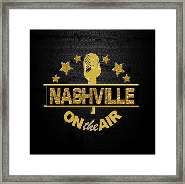 Nashville On The Air Framed Print