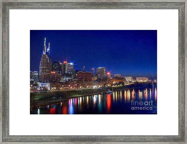 Nashville Skyline Framed Print