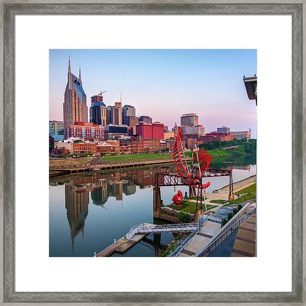Nashville Skyline - Square Format Framed Print