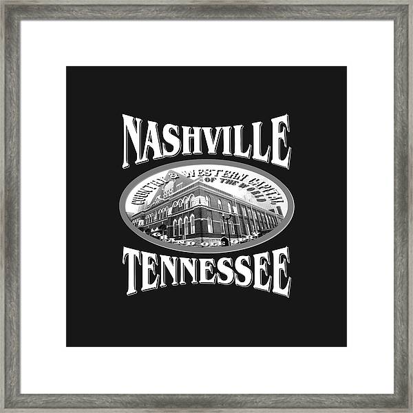 Nashville Tennessee Design Framed Print