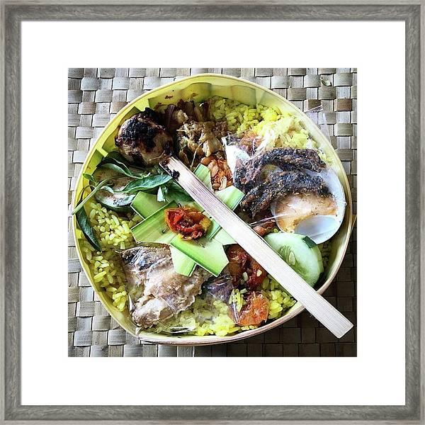 Nasi Yasa, A Special Rice Dish That Is Framed Print by Arya Swadharma