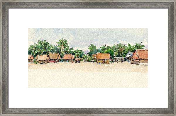 Nassau, Cook Islands, South Pacific Framed Print