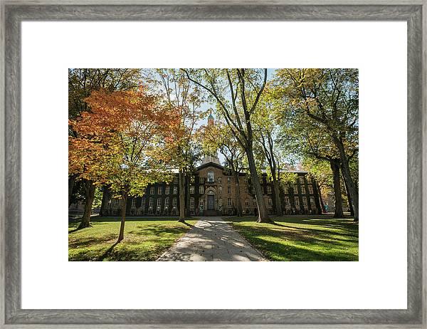 Nassau Hall Princeton University Framed Print