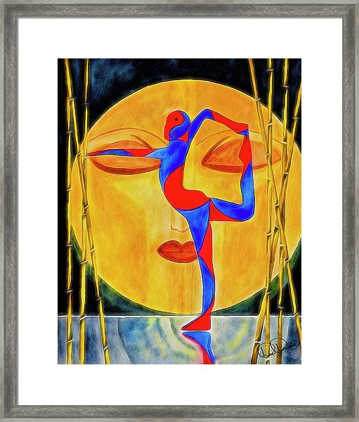 Framed Print featuring the painting Nataraja Asana by Dee Browning