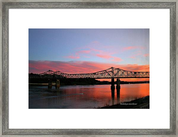 Natchez Sunset Framed Print