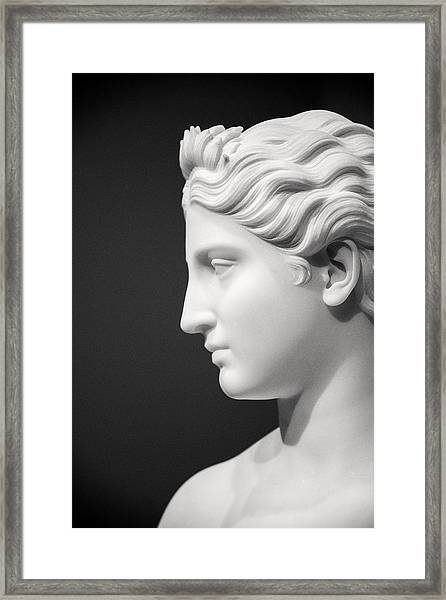 National Portrait Gallery Statue Profile Framed Print