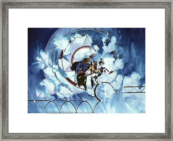 Native American Blue Spirit Framed Print