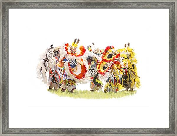 Native Color In Motion Framed Print