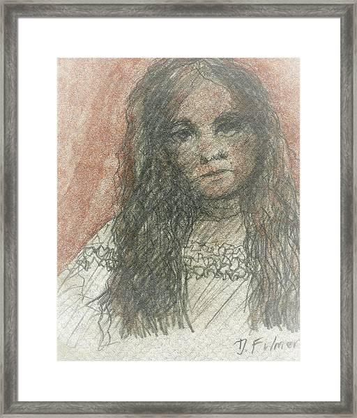 Native American Girl Framed Print