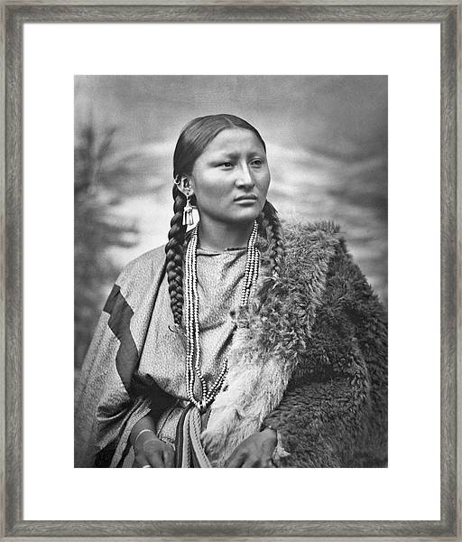 Native American Woman War Chief Pretty Nose Framed Print