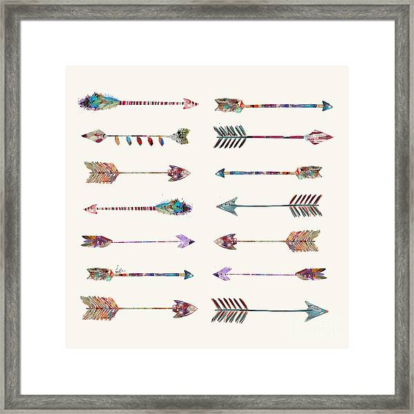 Native Arrows Framed Print