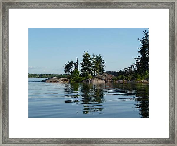 Natural Breakwater Framed Print