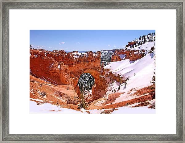 Natural Bridge. Bryce Canyon Framed Print