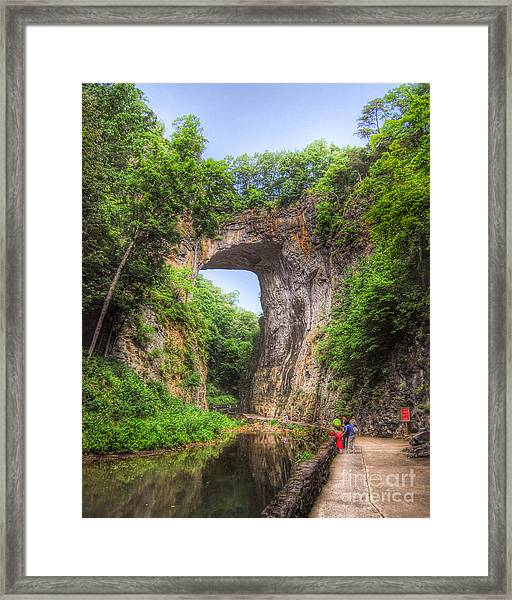 Natural Bridge - Virginia Landmark Framed Print