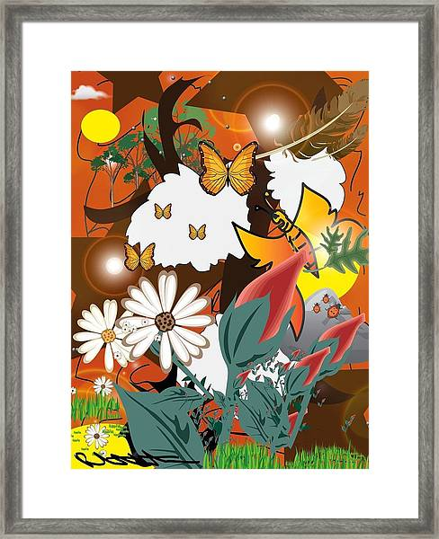 Natural Color Life Framed Print