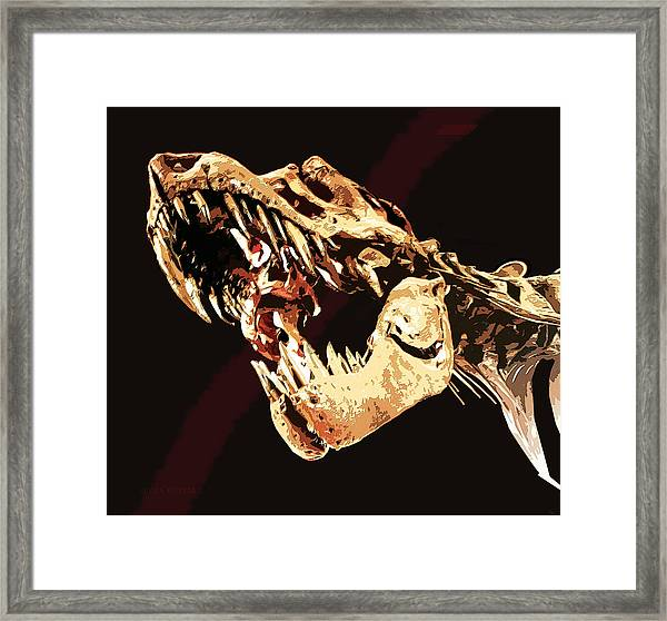 Natural History- T Rex Framed Print