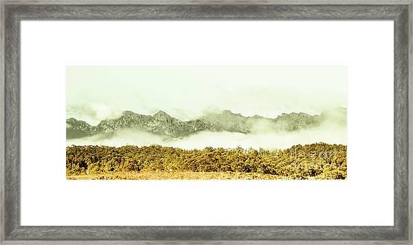 Natural Mountain Beauty Framed Print
