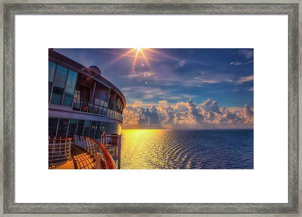 Natures Beauty At Sea Framed Print