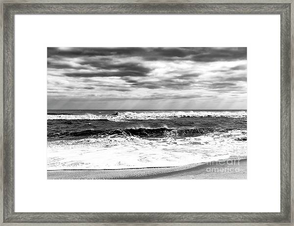 Nature's Force On Long Beach Island Framed Print by John Rizzuto