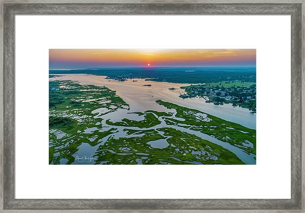 Natures Hidden Lines Framed Print