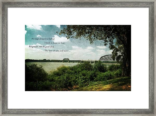 Natures Poetry Framed Print