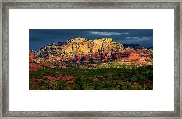 Nature's Spotlight, Sedona, Arizona Framed Print