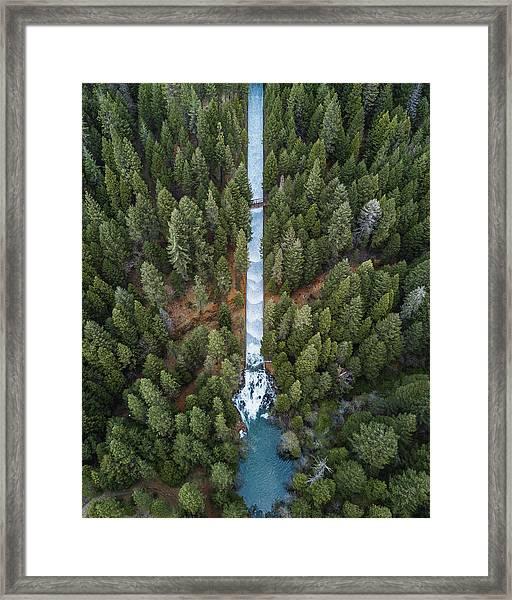 Natures Waterslide  Framed Print