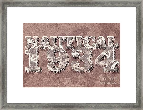 Nautical 1934 Framed Print
