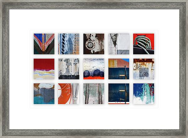 Nautical Bits Panel Number 1 Framed Print