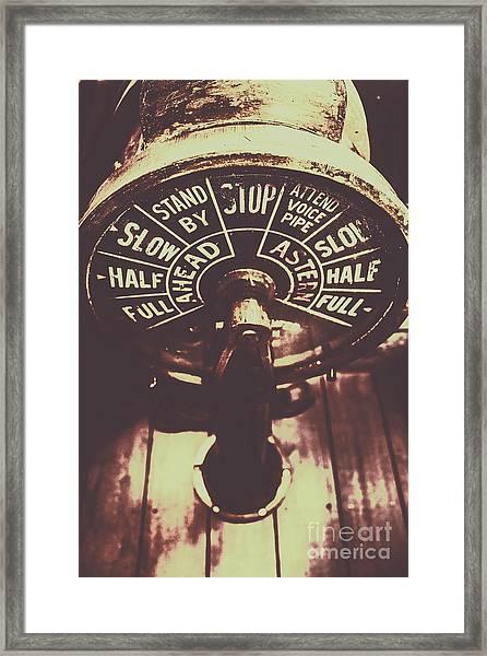 Nautical Engine Room Telegraph Framed Print