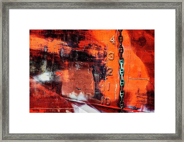 Nautical Industrial Art Again Framed Print