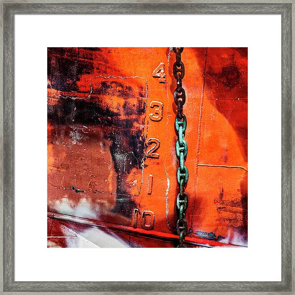 Nautical Industrial Art Again Square Framed Print