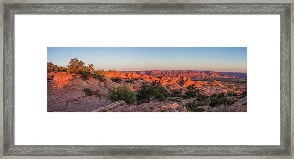 Navajo Land Morning Splendor Framed Print