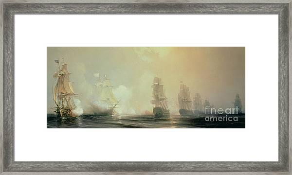 Naval Battle In Chesapeake Bay Framed Print