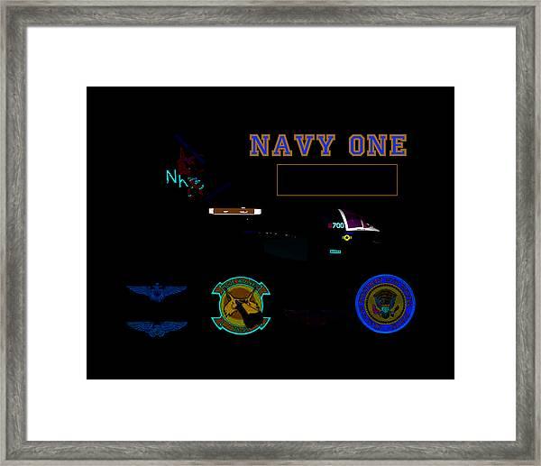 Navy One Framed Print