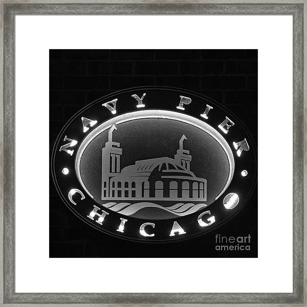 Navy Pier Chicago Sign Framed Print