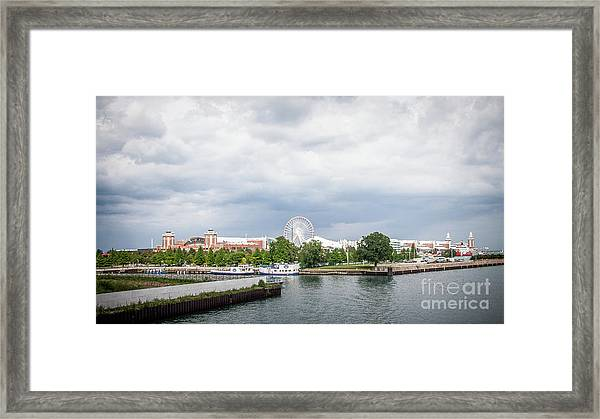 Navy Pier In Chicago Framed Print