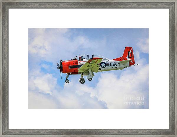 Framed Print featuring the photograph Navy Trainer #2 by Tom Claud