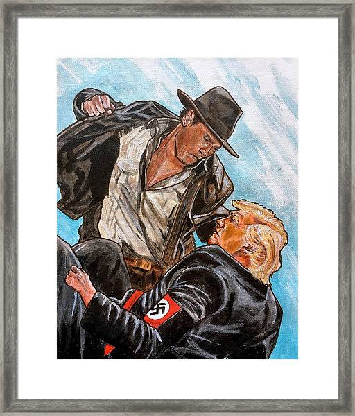 Nazis. I Hate Those Guys. Framed Print