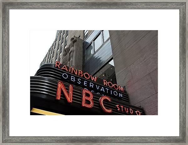 Nbc Studio Rainbow Room Sign Framed Print