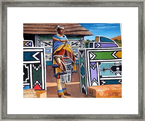 Ndebele Color Framed Print