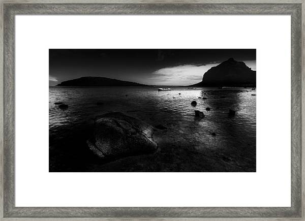 Near Le Morne Framed Print