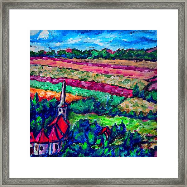 Nearing The Church Framed Print by Laura Heggestad