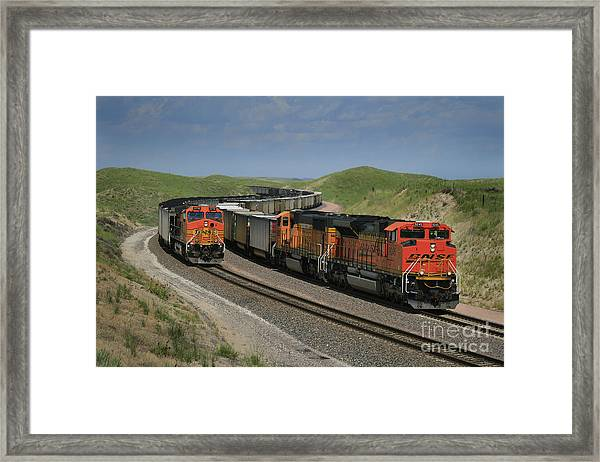 Nebraska Coal Trains Framed Print