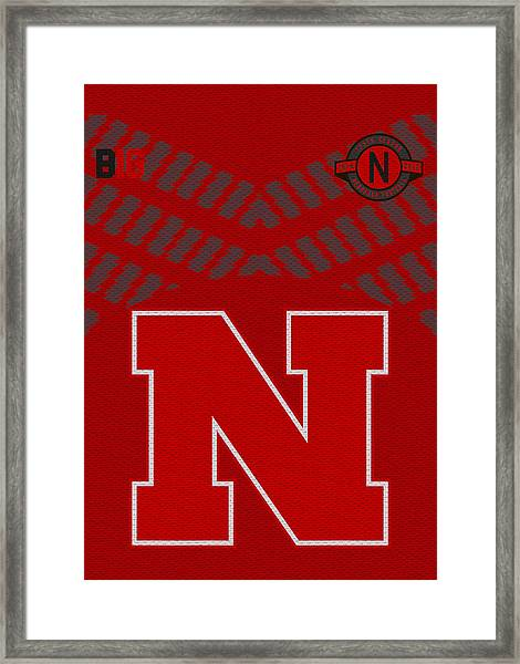 Nebraska Cornhuskers Uniform 2 Framed Print